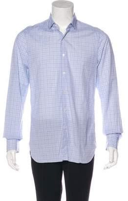 Isaia Plaid Dress Shirt