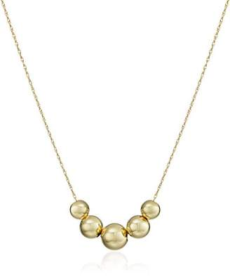 14k Yellow Five-Bead Station Necklace