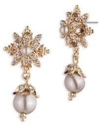 Marchesa 3MM and 6MM Faux Pearl Drop Earrings
