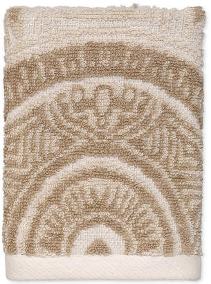 Avanti Sofia Cotton Terry Jacquard Washcloth Bedding