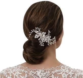 Jon Richard Alan Hannah Devoted Designer Blossom Freshwater Pearl and Crystal Comb