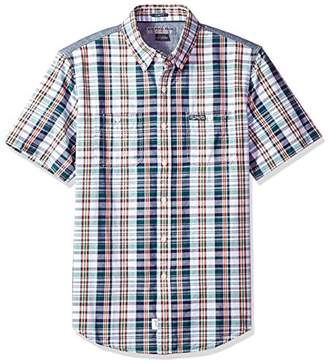 U.S. Polo Assn. Men's Short Sleeve Slim Fit Plaid Shirt