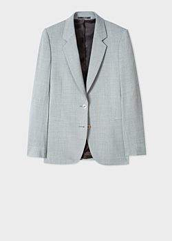 Paul Smith Women's Light Grey Marl Two-Button Wool Blazer