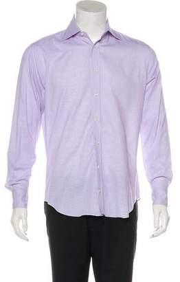 Barneys New York Barney's New York Trim Fit Striped Dress Shirt