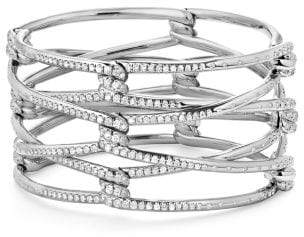 David Yurman Continuance Bracelet With Diamonds In 18K White Gold,