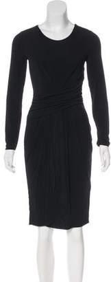 Armani Collezioni Jersey Knee-Length Dress
