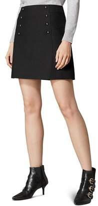 Karen Millen Button Detail A-Line Mini Skirt