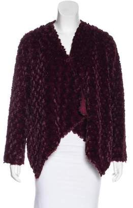 Adrienne Landau Faux Fur Draped Jacket