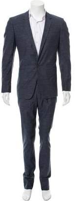 Calvin Klein Collection Woven Single-Button Suit