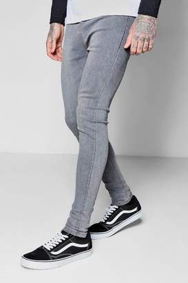 boohoo Pale Grey Spray On Skinny Jeans