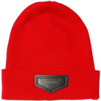 Givenchy (ジバンシイ) - GIVENCHY ウール&カシミア ニットビーニー帽