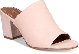 Kenneth Cole Reaction Women's Mass-Ter Mind Peep-Toe Mules $79 thestylecure.com