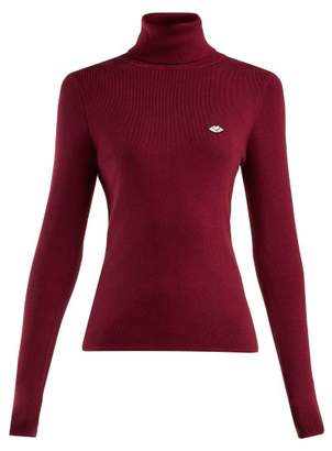 See by Chloe Roll Neck Cotton Blend Sweater - Womens - Burgundy