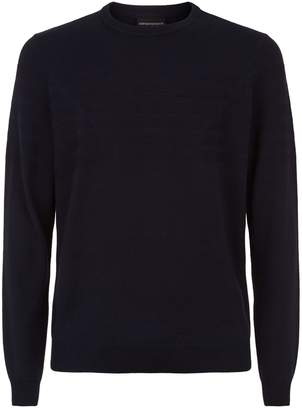 Emporio Armani Textured Logo Sweater