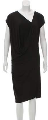 AllSaints Surplice Neck Midi Dress