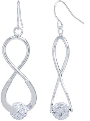 clear SPARKLE ALLURE Sparkle Allure Silver Over Brass Crystal Drop Earrings