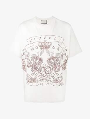 Gucci oversized Greek print t-shirt