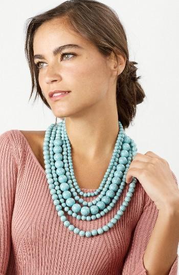 Women's Baublebar 'Globe' Multistrand Beaded Necklace 2