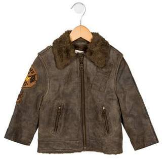 aa8020d67 Boys Brown Leather Jacket - ShopStyle