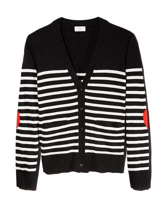 Kate Spade Striped Heart Patch Cardigan