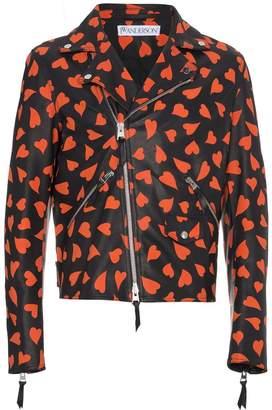 J.W.Anderson Leather Hearts Biker Jacket