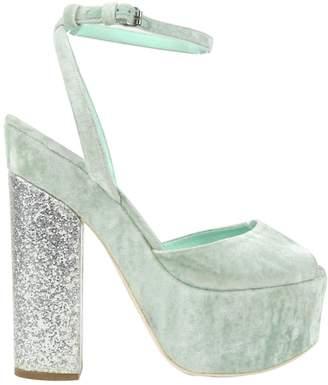 Giamba Green Velvet Heels