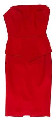 Roland Mouret Strapless Mini Dress