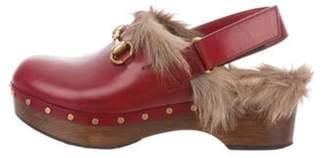Gucci Amstel Horsebit Clogs Red Amstel Horsebit Clogs