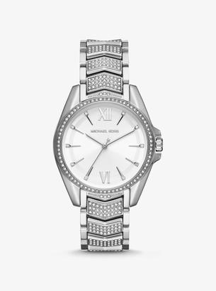 Michael Kors Whitney Pave Silver-Tone Watch