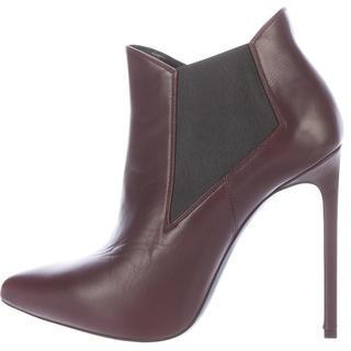 Saint LaurentSaint Laurent Pointed-Toe Leather Booties