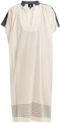 SU Jana Mandarin-collar cotton-blend dress