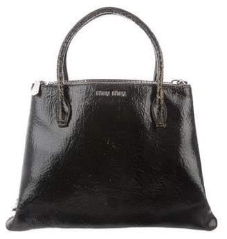 Miu Miu Leather Craquele Satchel
