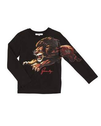 Givenchy Boy's Long-Sleeve Lion Graphic Tee, Size 12-14