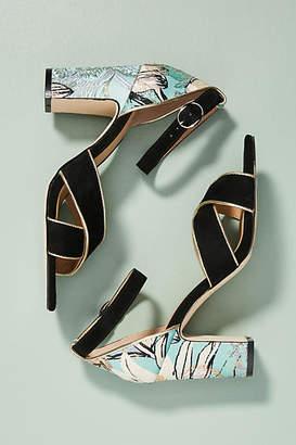 Anthropologie Impressionist Heeled Sandals