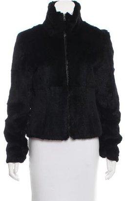 Andrew Marc Fur Zip-Up Jacket $195 thestylecure.com
