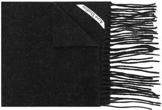 Acne Studios Canada skinny fringed scarf