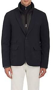 D'Avenza D'AVENZA MEN'S 3-IN-1 TECH-TWILL BLAZER-NAVY SIZE L