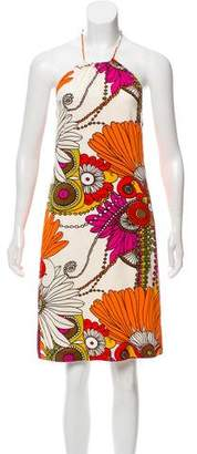 Trina Turk Silk Sleeveless Mini Dress