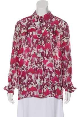 Mary Katrantzou Silk Button-Up Top