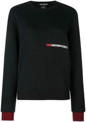 Pinko logo print sweatshirt