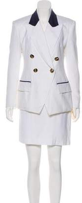 Christian Dior Double-Breasted Mini Skirt Suit