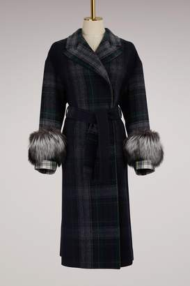 Prada Tartan pattern coat