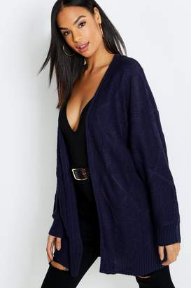 boohoo Tall Cable Knit Cardigan