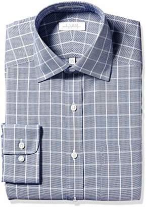 Enro Men's Newport Check Non-Iron Classic Fit Dress Shirt