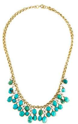 18K Turquoise & Pearl Collar Necklace