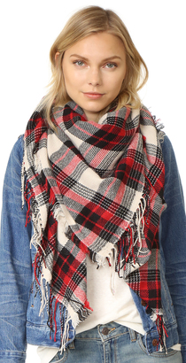 Madewell Plaid Cozy Weave Scarf $60 thestylecure.com
