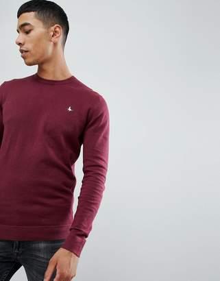 Jack Wills Seabourne crew neck sweater burgundy