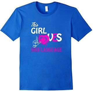 Ladies T Shirts - This Girl Loves Sign Language T-Shirt