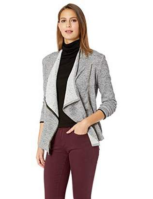 Chaus Women's L/S Zip Up 2-Tone Terry Jacket