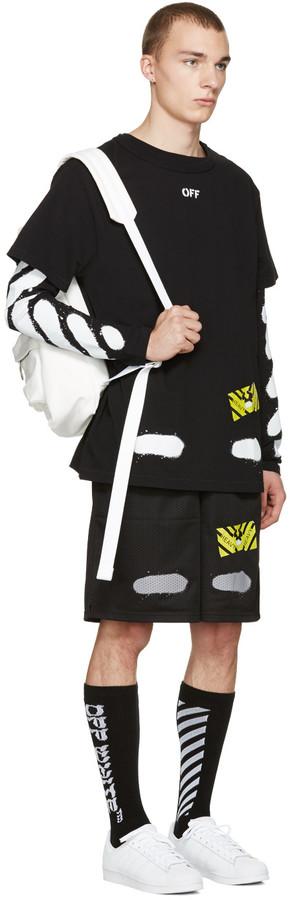 Off-White Black Diagonal Spray T-Shirt 3